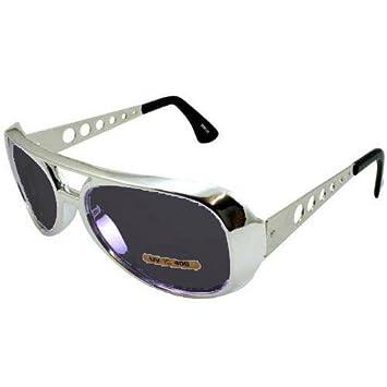 Plata Elvis Gafas de sol oscuro lente de Kill Bill: Amazon ...