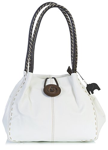 Big Handbag Shop, Borsa a spalla donna One Crema (Pu Grado 4)