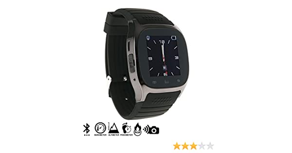 DAM - Smartwatch Timesaphire Bt Black. Agenda de contactos, marcador, mensajes SMS, registro de llamadas, aviso de notificaciones, reproductor de ...