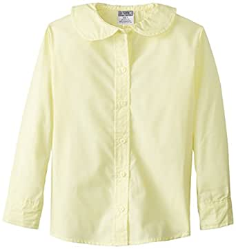 U.S. Polo Assn. Big Girls' Blouse (More Styles Available), Yellow-5948, 7