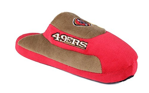 Comfy Feet SFR07-2 - San Francisco 49ers - Medium - Happy Feet NFL Low Pro (Nfl San Francisco 49ers Slipper)