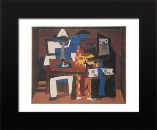 11x14 FRAMED Pablo Picasso Three Musicians Art Poster (Pablo Three Musicians Framed Art)