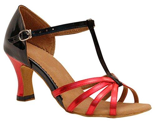 TDA - Zapatos con tacón mujer rojo y negro