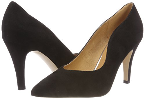 Suede Caprice Con 4 22412 black Tacco Scarpe Donna Nero 70Pnwxq0pA