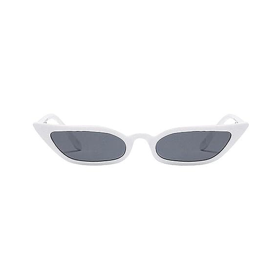 JiaMeng Gafas de sol rectangulares Unisex Vintage Cat Eye ...