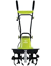 Sun Joe TJ603E 16-Inch 12-Amp Electric Garden Tiller/Cultivator, 3-Position Wheel Adjustment, 6-Steel Angled Tines, Maintenance-Free