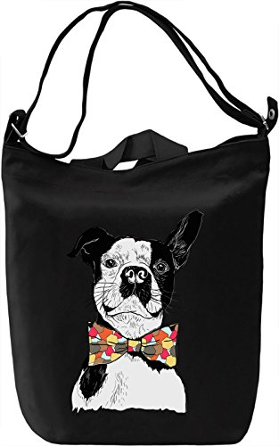 Bowtie dog Borsa Giornaliera Canvas Canvas Day Bag| 100% Premium Cotton Canvas| DTG Printing|
