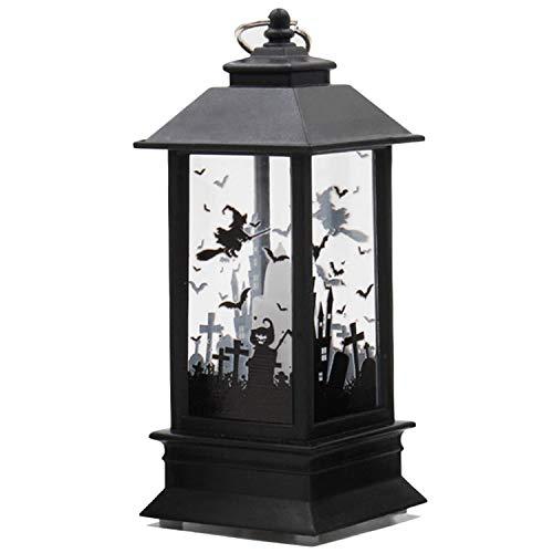 Migavan Halloween Castle Lantern,Vintage Halloween Party Candle Light