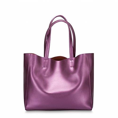 Leder Nappa Schultertasche Handtasche Handtaschen , lila