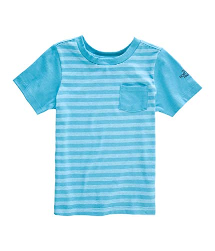 The North Face Kids Baby Boy's Short Sleeve Tee (Toddler) Caribbean Sea Stripe 3T