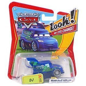 Disney / Pixar CARS Movie 1:55 Die Cast Car with Lenticular Eyes DJ
