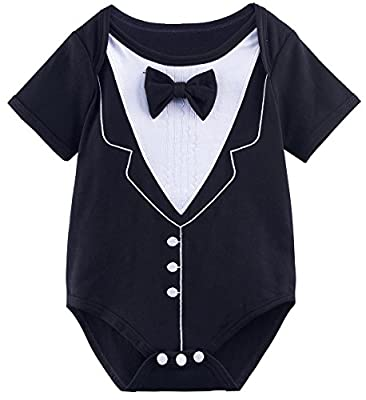 A&J Design Baby Boys' Gentleman Bodysuit