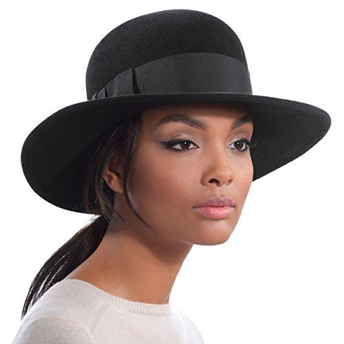 Eric Javits Luxury Designer Women's Fashion Headwear Hat - Padre - Black by Eric Javits