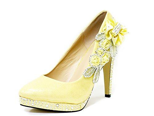 Ktc Women's Gold High Heel Wedding Shoes ZDaAWX9