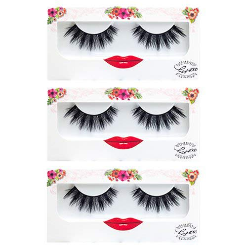 LashXO Lashes- Starla - 3 Packs Premium Quality False Eyelashes Compare to brand Make up Lashes