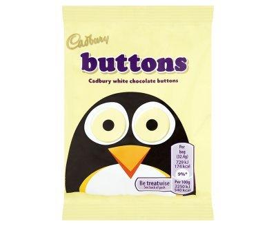 (Cadbury Bar x 36 (White Buttons 33g))