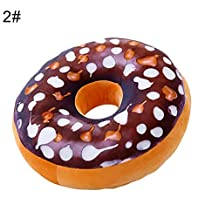wewa98698 - Cojín 3D de Felpa con Forma de Donut, para sofá, Silla, Respaldo y Coche, 2#, 1