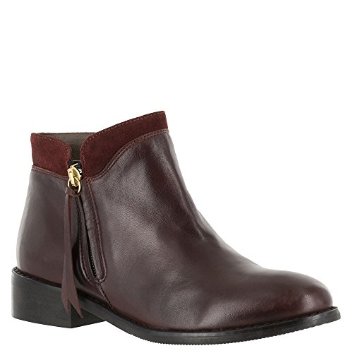 Bella Bordeaux Boots Closed Ankle Leather Vita Fashion Toe Womens OOCzqgwRS