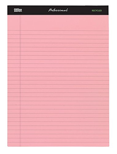 Assorted Colors 50 Sheets 3 pk Office Depot Professional Legal Pad Legal Ruled 8 1//2in x 11 3//4in 99494