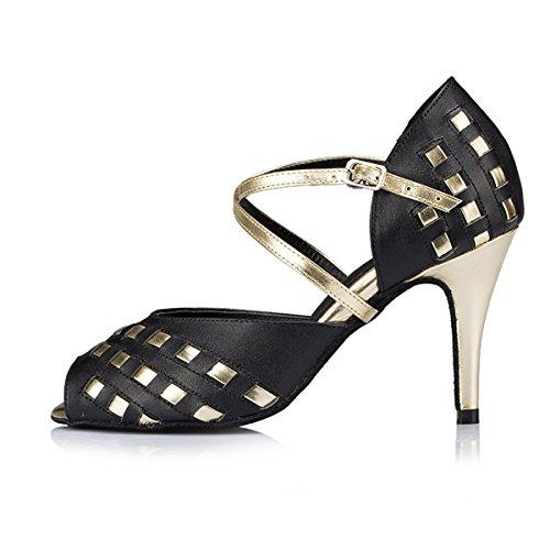 Miyoopark - salón mujer Black/Gold-8.5cm Heel