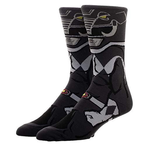 Power Rangers Character Collection Black Ranger 1 Pair Of Crew Socks