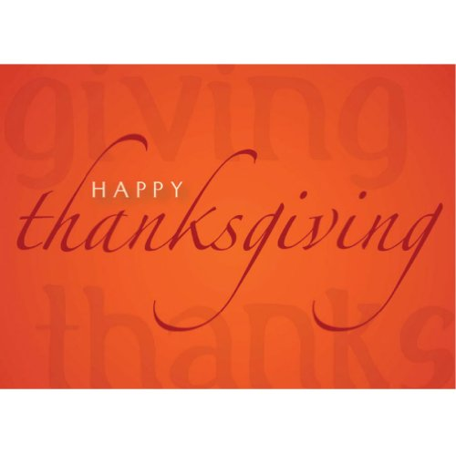 Zillomart 25-Piece Thanksgiving Greeting Card and 26-Piece Gold Foil-Lined Envelopes (TH8003)