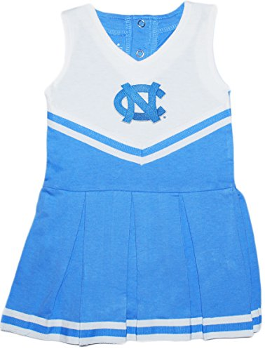 University of North Carolina UNC Tar Heels Baby and Toddler Cheerleader Bodysuit Dress