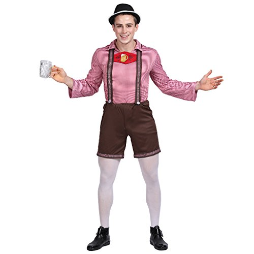 EraSpooky Men's German Oktoberfest Costume (As Picture, (German Beer Outfit)