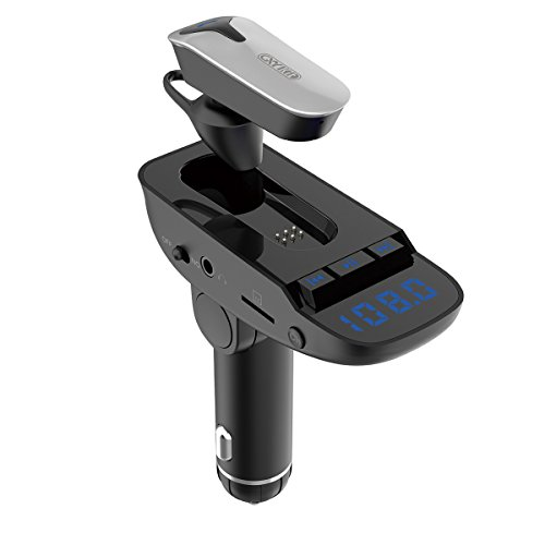 Wireless Bluetooth Headset FM Transmitter MP3 Radio Adapter Car Kit Supports TF/SD Card and USB Car Charger for All Smartphones ER9