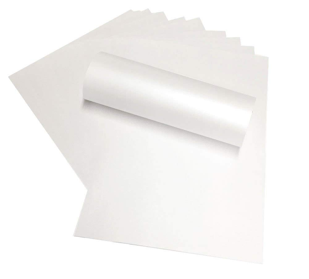 Papel brillante de doble cara de 120 g/m², color blanco ...