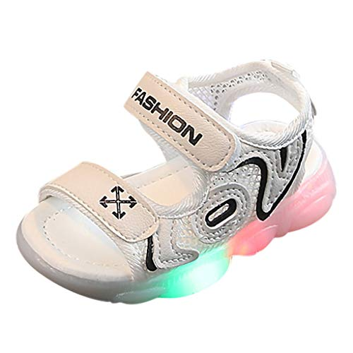 Tantisy ♣↭♣ Girls LED Walk Shoes/Lightweight Breathable Sneakers/Casual Outdoor Shoes (Toddler/Little Kid/Big Kid) Black