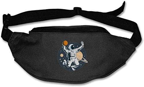 宇宙飛行士プレイバスケットボールユニセックスアウトドアファニーパックバッグベルトバッグスポーツウエストパック
