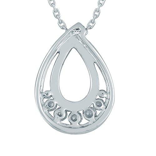 Giantti Diamant Pendentif Femme Collier (0.24CT, VS Clarté, Gh-colour)