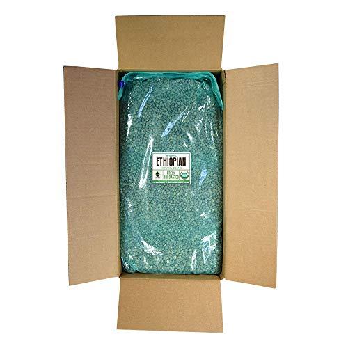 Fresh Roasted Coffee LLC, Green Unroasted Ethiopian Sidamo Coffee Beans, Fair Trade, USDA Organic, Bulk 25 Pound Bag