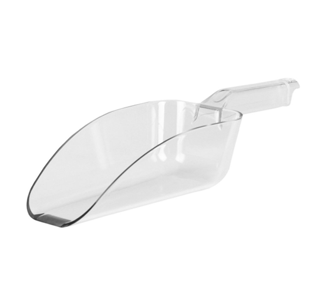 12-Ounce Clear Polycarbonate Scoop, Plastic Ice Scoop, Candy Scoop, Popcorn Scoop, Heavy-Duty Utility Scoop by Tezzorio