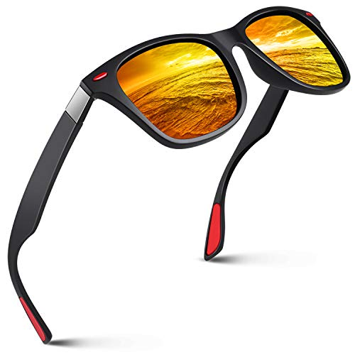 SUNIER Polarized Sunglasses for Men and Women Retro Sun Glasses M90