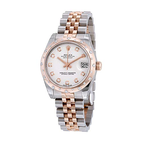 - Rolex Datejust 31 White Diamond Dial Steel and 18kt Pink Gold Ladies Automatic Watch 178341WDJ