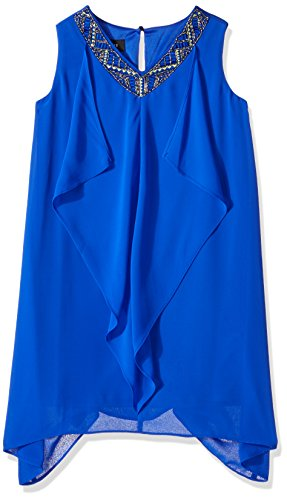 Amy Byer Girls Big Aline Dress with Beaded Neckline