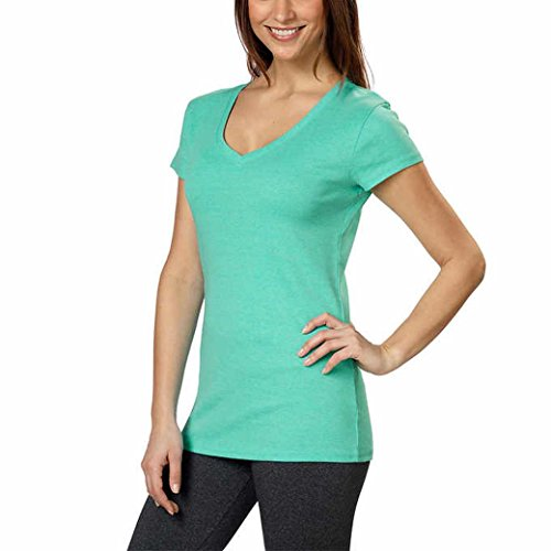 Kirkland Signature Ladies V-Neck T-Shirt (XX-Large, Green)