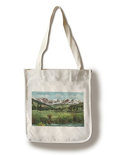 Rocky Mountain National Park, Colorado - View of the Range from Estes Park (100% Cotton Tote Bag - Reusable) (Rocky Park Mountain Park National Estes)