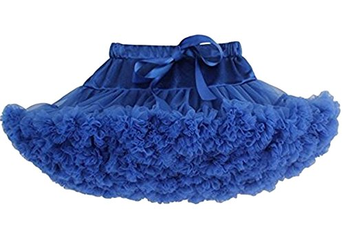 Price comparison product image Bai You Mei Baby Girl's Solid Color Dance Tutu Pettiskirt Multi-layer Ballet Tulle Skirts Dark Blue