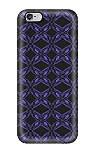 Snap-on Case Designed For Iphone 6 Plus- Pretty Blue Violet Pattern