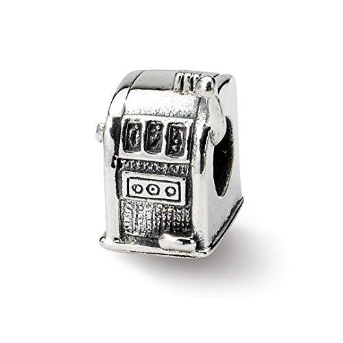 925 Sterling Silver Charm For Bracelet Slot Machine