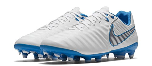 Cool 7 De Tiempo Blanc white Grey Homme blue Chaussures Fg 107 Hre Hero chrome White Academy Legend mtcl Nike blue Football EPwYY