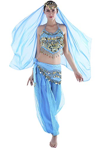 Seawhisper Jasmine Costume for Women Belly Dancer Costumes for -