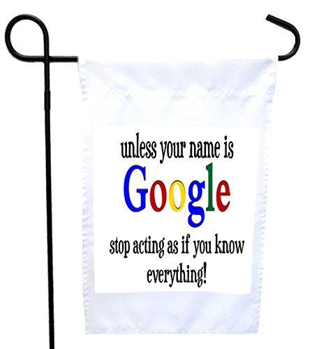 Google Humor Garden Flag