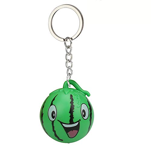 (GbellLED Light Sound Keyfob Toys, Cute Cartoon Watermelon Keychain Keyfob Toys Baby Girl Lovely Toy Cell Phone Straps Key Chains Toy)