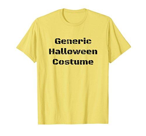 Mens Witty Generic Halloween Costume Tshirt for Men & Women 3XL -