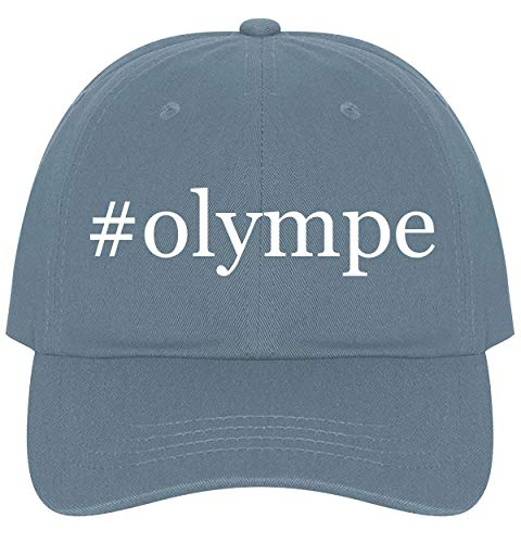 The Town Butler #Olympe - A Nice Comfortable Adjustable Hashtag Dad Hat Cap, Light Blue