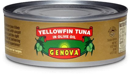 Genova Yellowfin Tuna in Pure Olive Oil, 7-Ounce (Pack of 6)